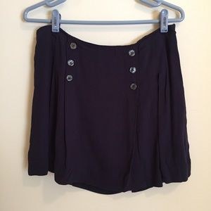 Free People women's mini skirt size 10 Navy blue